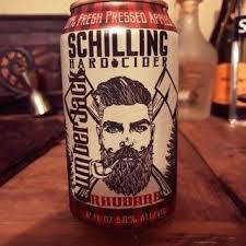 Schilling Hard Cider Rhubarb